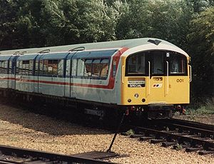 Transport on the Isle of Wight - An Island Line train, unit 483001 in 1989.
