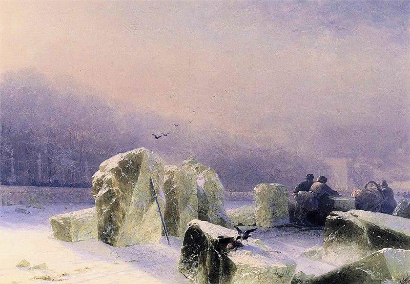 File:Ivan Constantinovich Aivazovsky - Ice-Breakers on the Frozen Neva in St. Petersburg.JPG