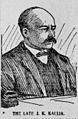 J. K. Kaulia, Advertiser sketch, 1902.jpg