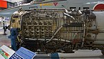 J79-IHI-11A turbojet engine compressor section left side view at Kakamigahara Aerospace Science Museum November 2, 2014.jpg