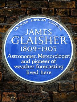James glaisher 1809 1903 astronomer meteorologist and pioneer of weather forecasting lived here