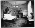 JAMES WHITCOMB RILEY'S BEDROOM - James Whitcomb Riley House, 528 Lockerbie Street, Indianapolis, Marion County, IN HABS IND,49-IND,8-14.tif