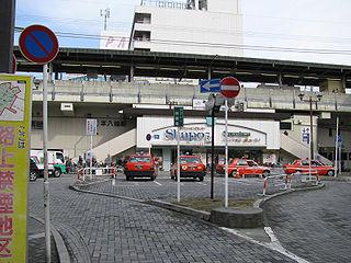 Moto-Yawata Station Railway and metro station in Ichikawa, Chiba Prefecture, Japan