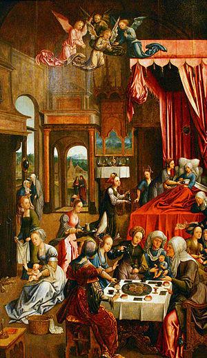 Museo Nacional de Bellas Artes (Buenos Aires) - Image: Jacob Cornelisz. van Oostsanen El nacimiento de la Virgen María