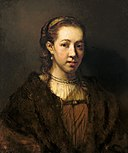 Jacobus Leveck (Attributed) - Portrait of a girl with a fur robe.jpg