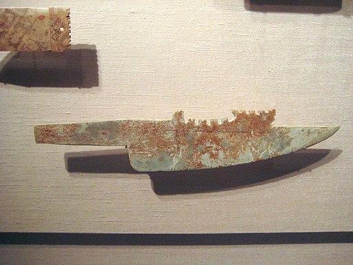 Jade knife, Shang