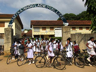 Education in Sri Lanka - School Girls of Jaffna Hindu Ladies' College