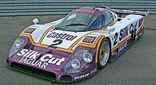 La XJR-9 vincitrice della 24 Ore di Le Mans del 1988.