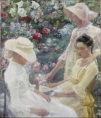 Jan Toorop - Image: Jan Toorop trio fleuri 1886
