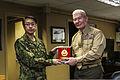 Japan Ground Self-Defense Force (JGSDF) Lt. Gen. Hirotaka Yamashita, left, the vice chief of staff for the JGSDF, gives U.S. Marine Corps Lt. Gen. John A. Toolan, the commanding general of I Marine Expeditionary 140214-M-ST621-030.jpg