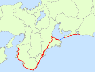 Japan National Route 42 - Image: Japan National Route 42 Map