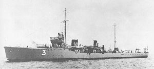 W-1-class minesweeper - Image: Japanese minesweeper No 3 in 1923