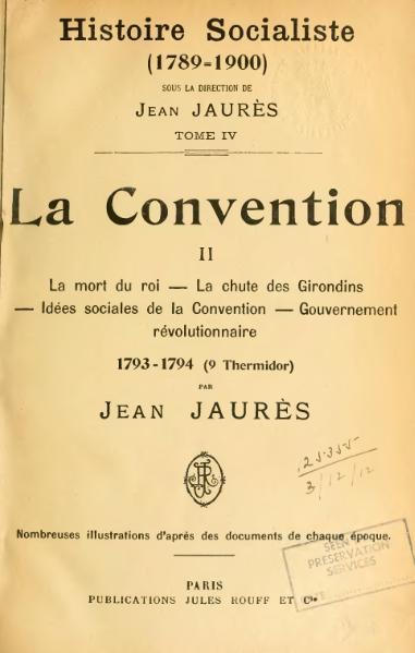 File:Jaurès - Histoire socialiste, IV.djvu