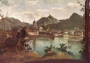 Pliny the Elder - City and Lake of Como, painted by Jean-Baptiste-Camille Corot, 1834.