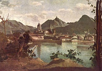Como - City and Lake Como, painted by Jean-Baptiste-Camille Corot, 1834