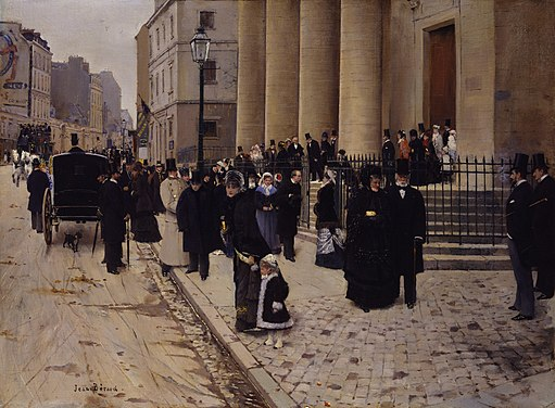 Jean Béraud, The Church of Saint-Philippe-du-Roule, Paris