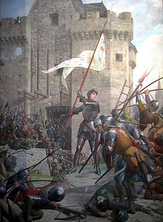 Siege of Orléans - Joan of Arc at the Siege of Orléans by Jules Eugène Lenepveu, painted 1886–1890