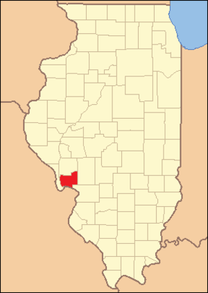 Jersey County, Illinois - Image: Jersey County Illinois 1839