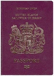 Jersey-variant British passport