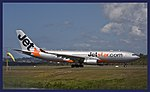 JetStar A330 waiting for take-off Coolangatta-2and (3904610035).jpg