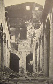 Jewish houses in Safed following 1929 riots