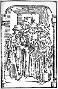 Jews studying in a synagogue, c.1483