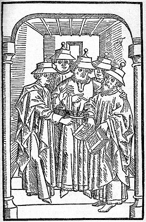 Sicut Judaeis - Jews studying in a synagogue, c.1483