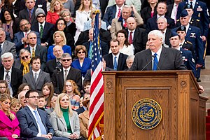 Jim Justice - Justice at his inauguration