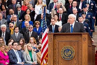 Jim Justice - Justice at his inauguration