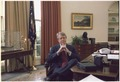 Jimmy Carter at his desk in the Oval Office - NARA - 177098.tif