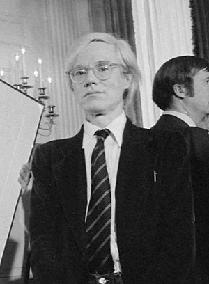 Jimmy Carter with Andy Warhol during a reception for inaugural portfolio artists., 06-14-1977 - NARA - 175147 (cropped).jpg
