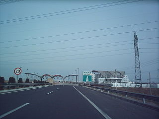 Jinji Expressway road in Tianjin, China