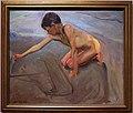 Joaquin sorolla y bastida, disegnando nella sabbia, 1911 ca.jpg