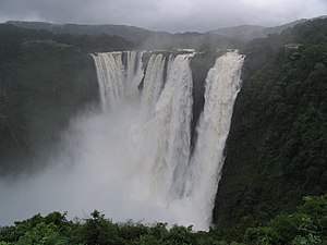 Lingaa - Jog Falls, one of the two main locations where the climax was filmed.
