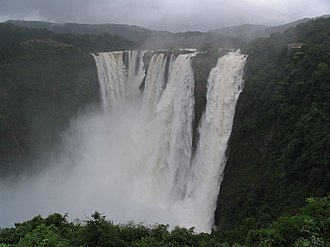 Western Ghats - Jog Falls in Karnataka, one of the most spectacular waterfalls in India