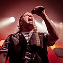 John Arch, original Fates Warning vocalist during the Keep It True Festival (Awaken The Guardian album 30th Anniversary Show) in Lauda-Königshofen, Germany (2016.04.30).jpg