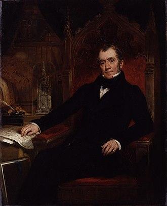John Britton (antiquary) - Portrait of John Britton by John Wood, 1845