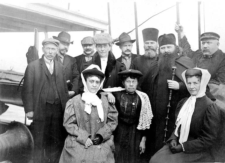 John Cobb and passengers on the deck of the steamship DORA, Summer 1907 (COBB 332).jpeg
