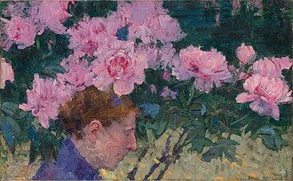 John Russell (Australian painter) - Image: John Peter Russell Peonies and head of a woman