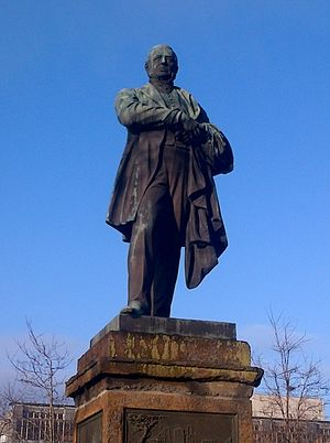 John Vaughan (ironmaster) - Image: John Vaughan statue Middlesbrough