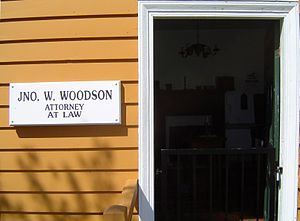 Woodson Law Office - Woodson law office business sign