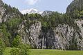 Johnsbach - Nationalpark Gesäuse - Wasserfall des Wolfbauer Wasserfallbachs - im Hintergrund das Hochtor.jpg