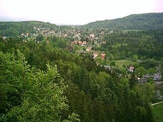 Jonsdorf - Image: Jonsdorf vom Nonnenfelsen
