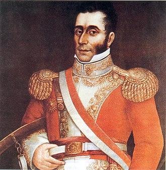 President of Peru - Image: José Bernardo de Tagle by José Gil de Castro