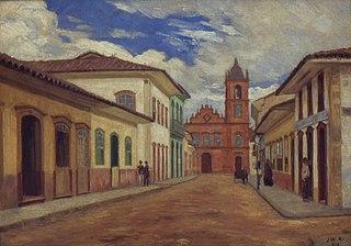 Trecho final da antiga Rua do Rosário, 1858