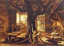 La scendezajno de Josef Hoffman por halo en Die Walküre implikas arbon, almenaŭ tri fojojn la alteco de viro. Ĝiaj tre dikaj radikoj kaj branĉoj disvastiĝas larĝe trans la planko kaj pinto, respektive.