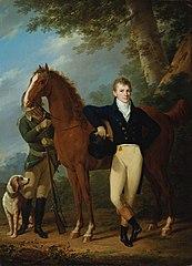 Der Glockengießer Johann Caspar Hofbauer mit Pferd und Jäger