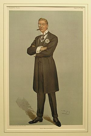 Austen Chamberlain - Chamberlain caricatured by Spy for Vanity Fair, 1899