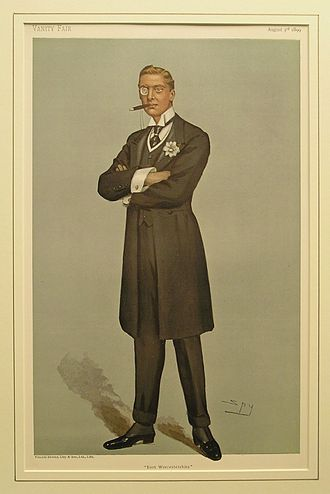 Austen Chamberlain - Chamberlain caricatured by Spy for Vanity Fair, 1899.