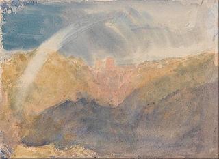 Crichton Castle (Mountainous Landscape with a Rainbow)